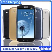 Original Unlocked Samsung Galaxy S3 i9300 3G Network Quad Core 4.8 inch 8MP Camera WiFi GPS Refurbished Smartphone Free Shipping