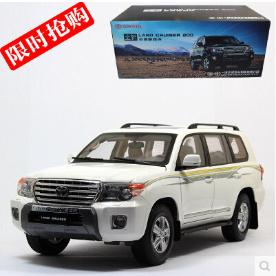 HOT SALE Toyota Land Cruiser 1:18 LC200 Original car model Police car SUV Toy Luxury cars Classic cars Collection Birthday gift(China (Mainland))