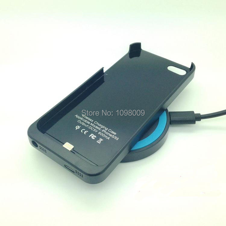 NEW Qi Wireless Charger Receiver For iphone 5 5S Charging Adapter Receptor Qi Standard Back Shell Case(China (Mainland))