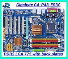 Free shipping 100% original desktop motherboard mainboard for Gigabyte GA-P43-ES3G P43-ES3G DDR2 LGA 775 Gigabit Ethernet(China (Mainland))