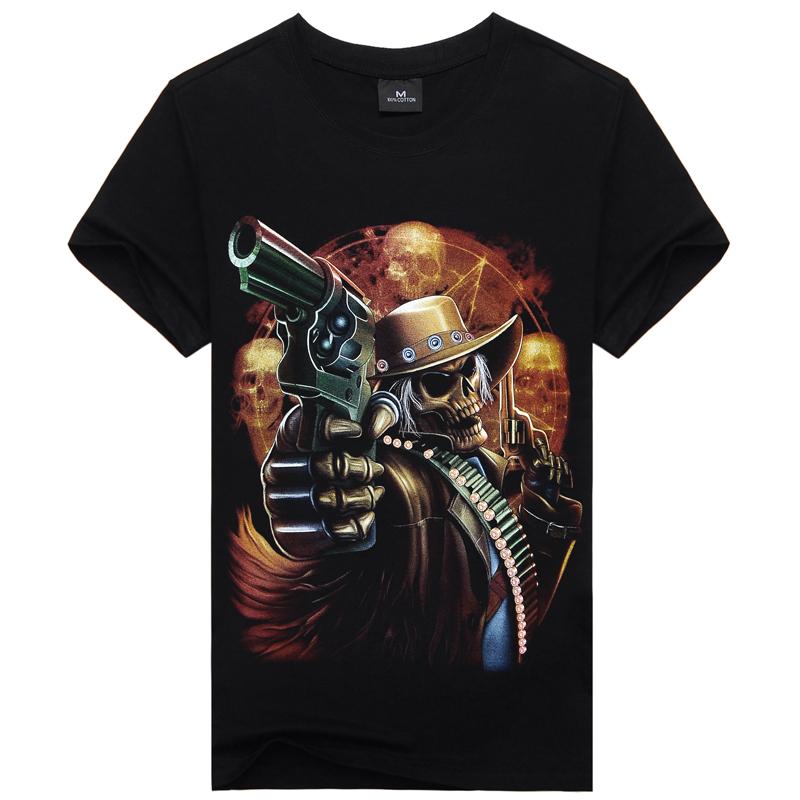 3D printed metal rock band men's t-shirt,2016 new summer style t-shirt men,handsome devil hip hop t shirt men,cotton male tees(China (Mainland))