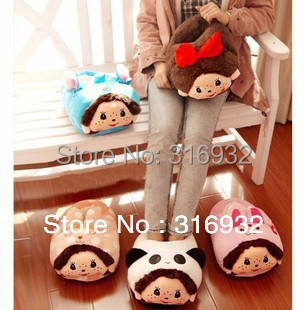 K5 Cute ultralarge cartoon Monchhchi Cotton Winter slippers,1pc