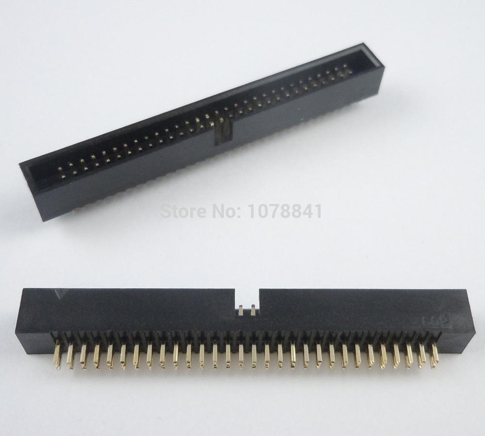 50 Pcs Per Lot 1.27mm 2x30 Pin 60 Pin DIP Male Shrouded PCB Box Header IDC Connector<br><br>Aliexpress
