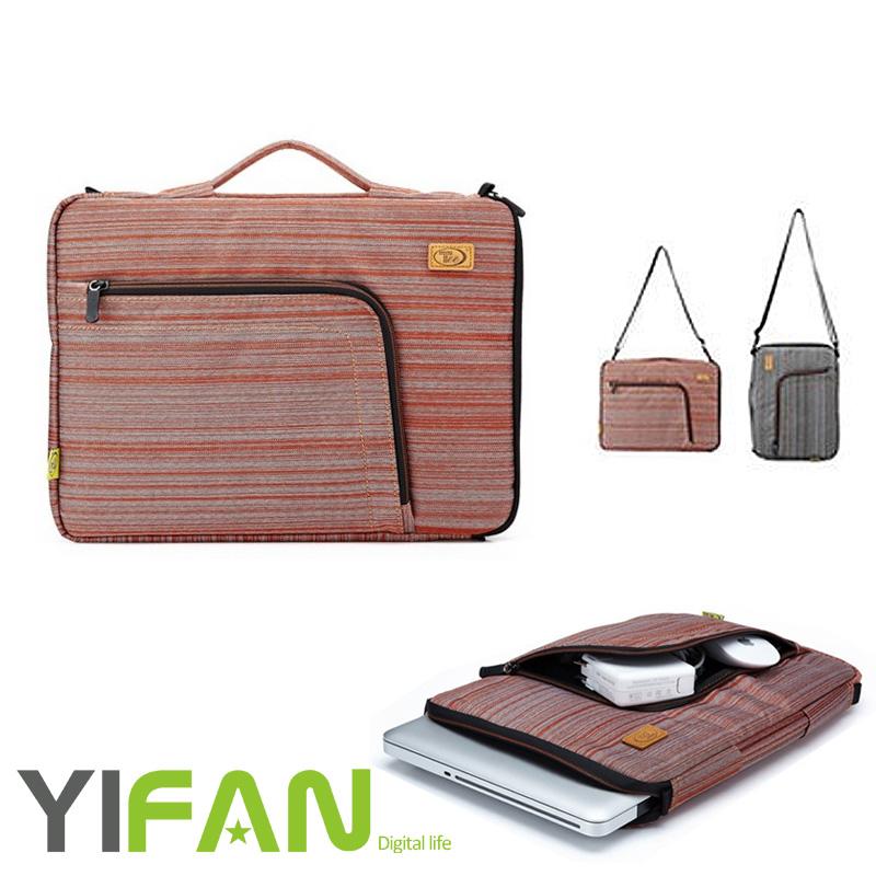 2016 Fashion Multi-functional Denim Laptop Sleeve Case Bag and Adjustable Shoulder Strap-For 13 Inch Notebook / MacBook(China (Mainland))
