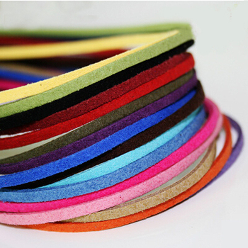 Free shipping 3mm Jewelry findings DIY Multi-colors Korean Suede Cord (4 meters/roll), Necklace & Bracelet Cord PS-FXU001