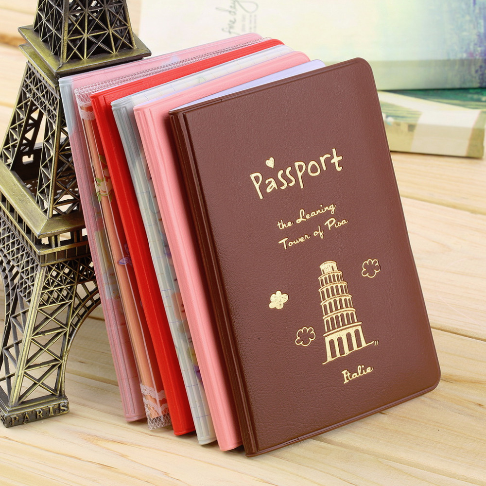 1pc 6 Colors Simple Travel ID&Document Holder Utility Pu Leather Passport Cover Worldwide Store(China (Mainland))
