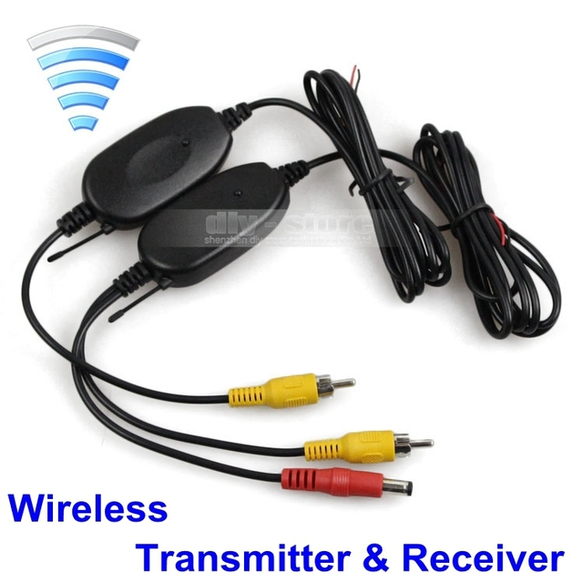 Free Shipping 2.4Ghz Wireless Camera Video Transmitter and Receiver for Car Rear View Camera and Car DVD Player Parking Monitor