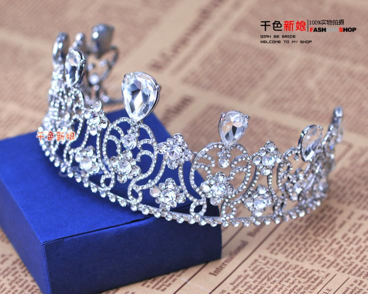 2013 New Royal Rhinestone Crystal Tiara Crown Vintage Bride Quinceanera Wedding Crowns Pageant Hair Jewelry Accessories WIGO0109(China (Mainland))