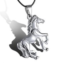 Run horse pendant stainless steel pendants necklace personalized animal jewelry for women men dainty Jewelry necklaces 2016(China (Mainland))