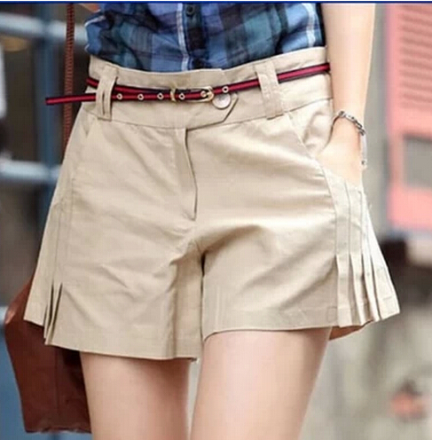 Aliexpress.com  Buy Plus Size New Fashion High Waist Pleated Shorts Women Clothing Casual Loose ...