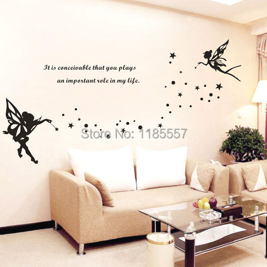 home decoration pvc wall sticker fairy diy for bedroom storymaker door room sticker walldesign