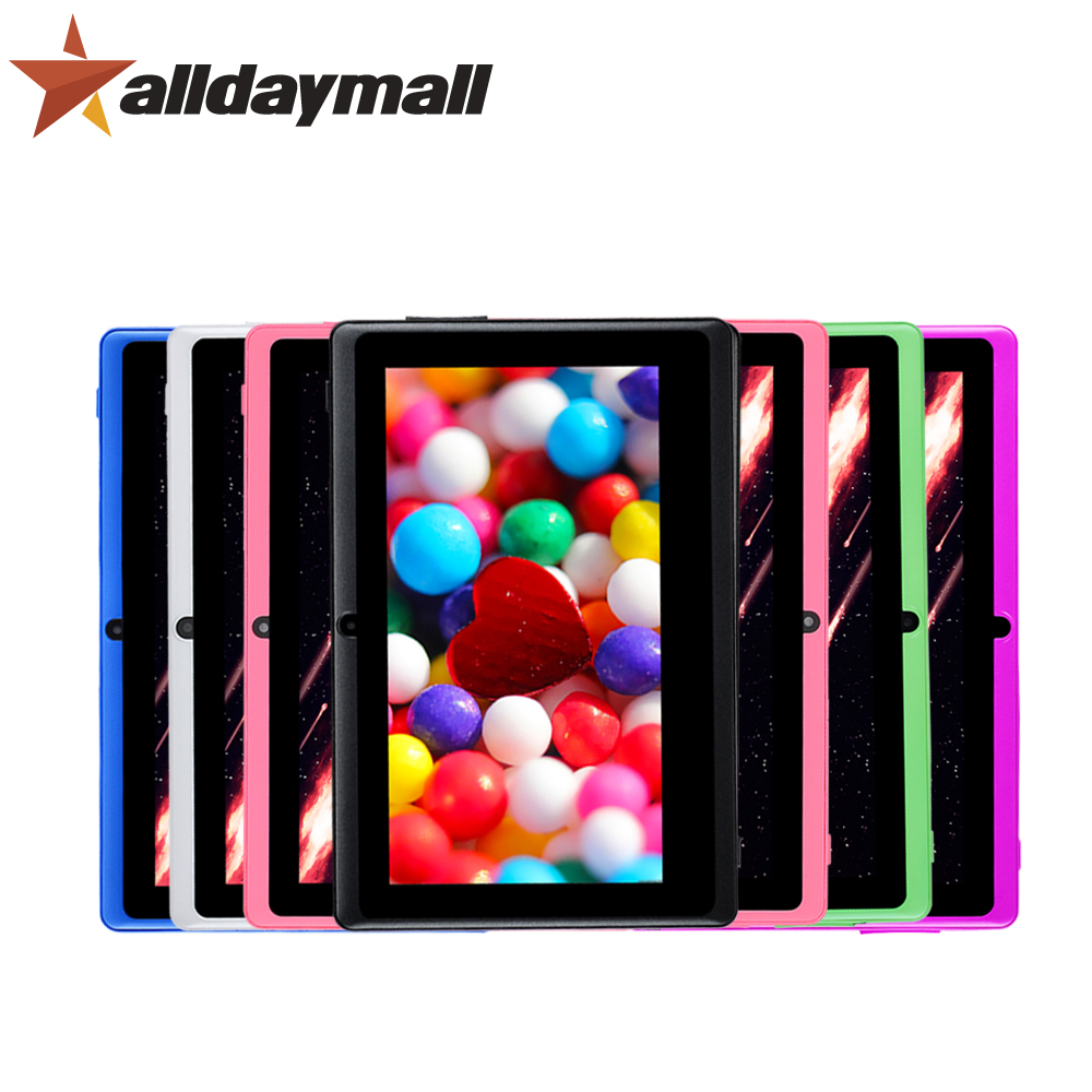 """Alldaymall A88X 7"""" Tablet pc 8GB ROM 512 RAM Android Tablet 7 inch Tablets Support Allwinner A33 Quad Core 1024*600 HD Tablette(China (Mainland))"""