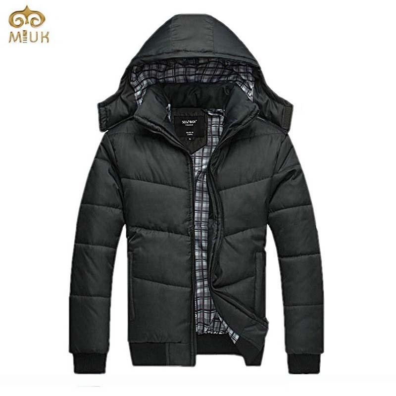 Large Size Solid Hoody Jaqueta Masculina 3XL XXL Hat Detachable Cotton Camperas Hombre 2016 Invierno Black Winter Jacket Men(China (Mainland))