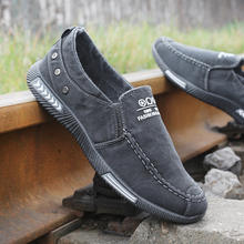 موضة الدنيم حذاء قماش الرجال الصيف الذكور أحذية رياضية الانزلاق على أحذية غير رسمية تنفس المتسكعون Chaussure أوم Zapatos دي Hombre(China)