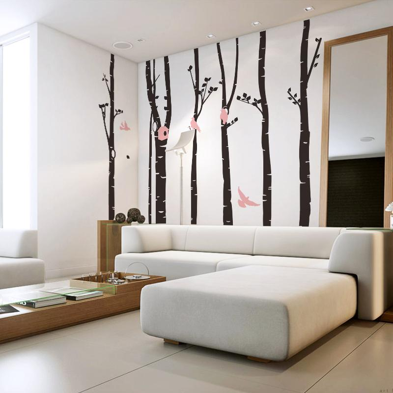 large wall stickers landscape wall tree decals for nursery. Black Bedroom Furniture Sets. Home Design Ideas