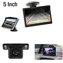 Buy 5 inch Car Monitor TFT LCD Vehicle Display Mini Car Rear view camera Reversing waterproof Parking System Kit Free for $32.21 in AliExpress store