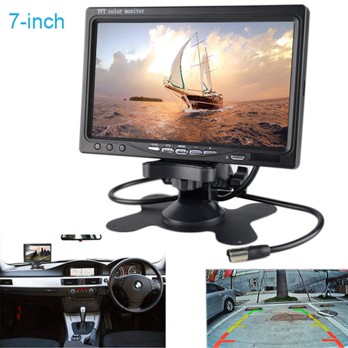 Free Shipping HD 7-inch Table Media LCD Screen Car Rear View Backup Monitor Sensor DVD/VCD/TVdisplay screen has audio output(China (Mainland))