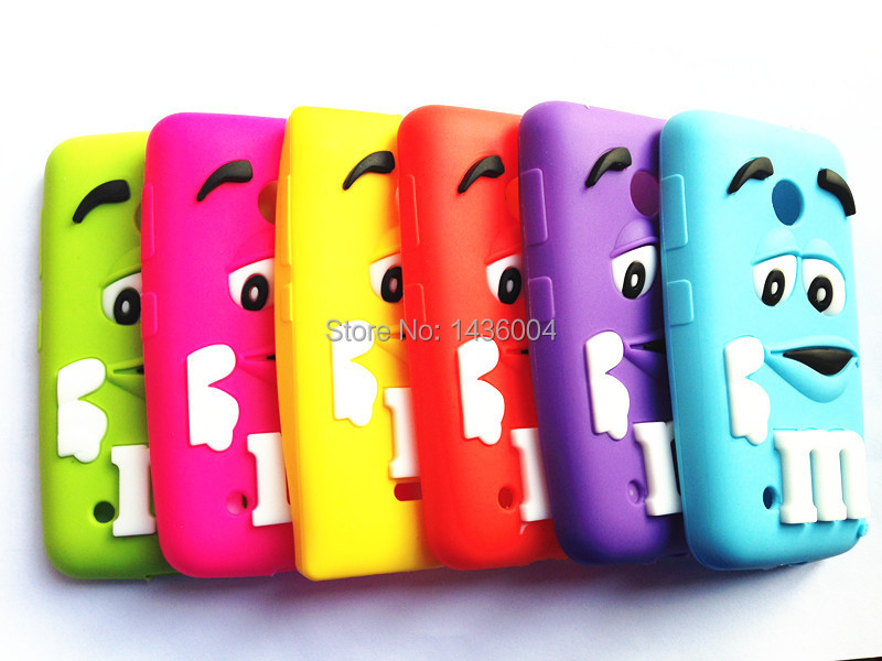 cute M&M'S chocolate candy silicone rubber soft cell phone defender cases cover For Nokia Lumia 530(China (Mainland))