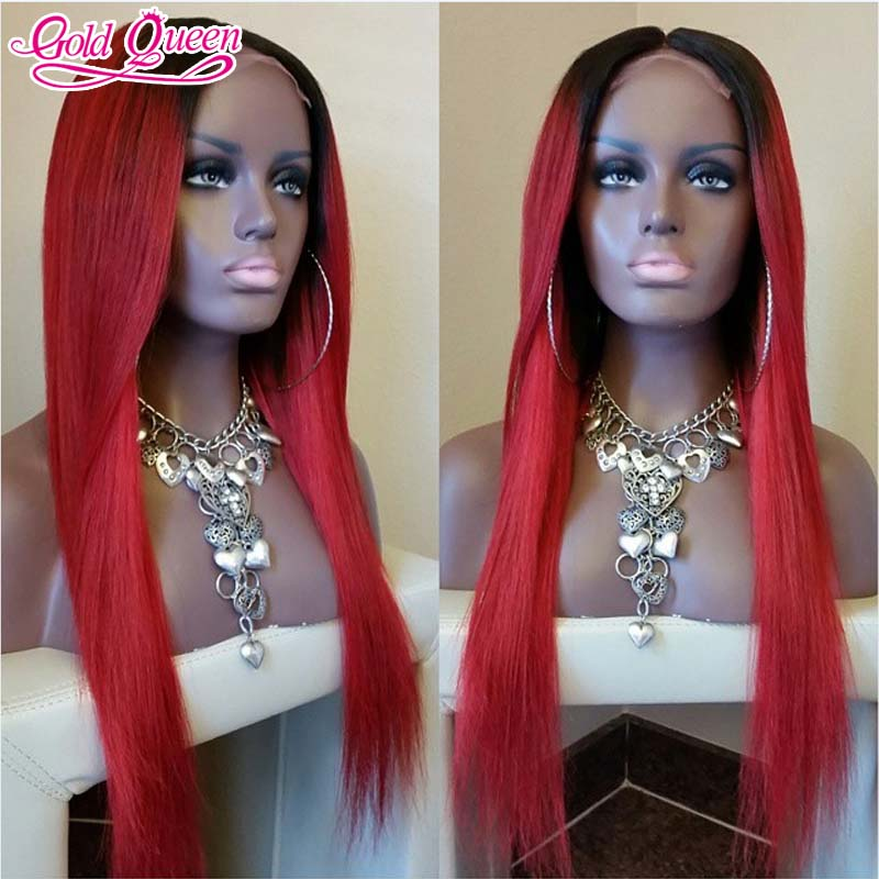 new arrival red human hair wig 26 inch #1bT#red ombre 7a brazilian hair lace front wig full lace human hair wigs free shipping<br><br>Aliexpress