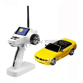 1/28scale  4WD Drift RC Car Mustang Model with Color Screen LCD display Transmitter