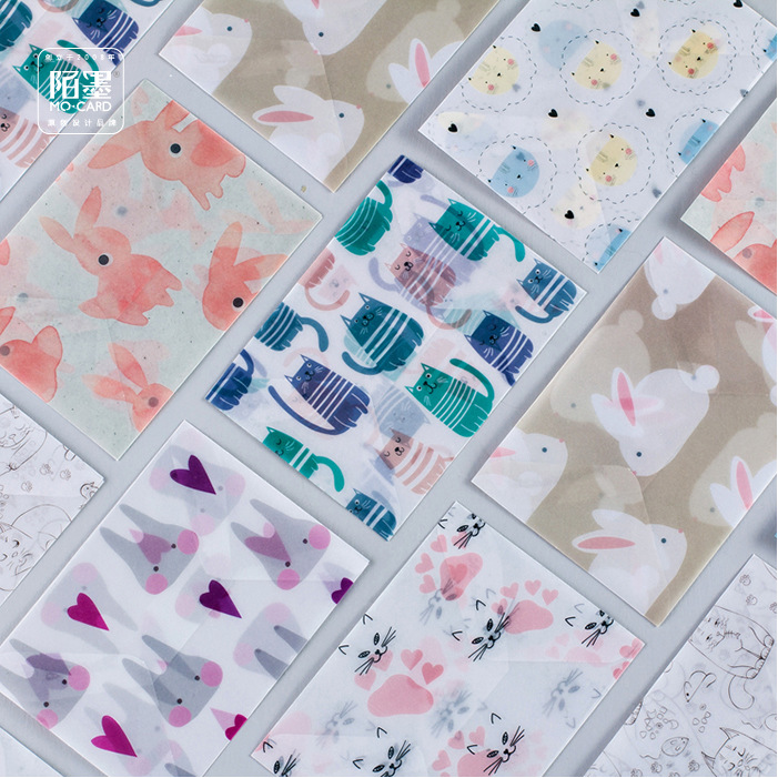 45 pcs/set Cartoon litmus paper gift Window Envelopes with stickers Planting Transparent Color sobres envelopes Size 110*150mm(China (Mainland))