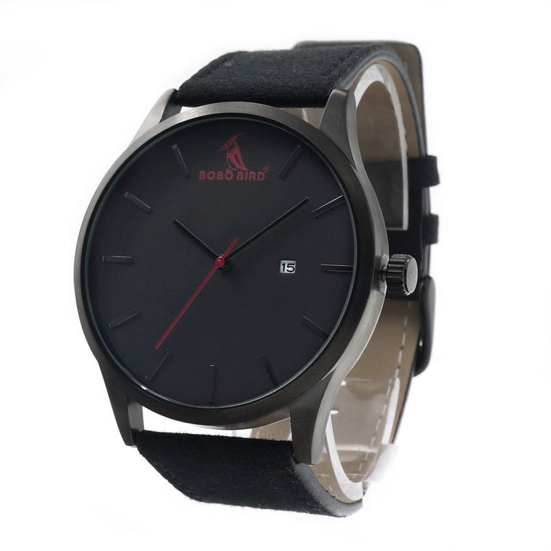 2016 Top Luxury BOBOBIRD Brand Casual Quartz Watches Business Military Men Watches Leather relogio masculino Leather Strap Clock<br><br>Aliexpress