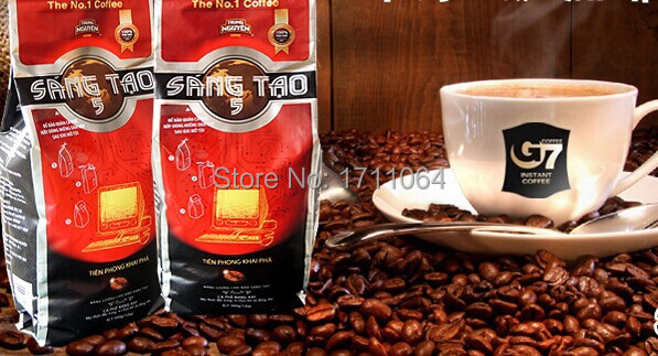G7 Black Non Instant Coffee powder No 5 340 grams of Vietnam Coffee alcohol incense powder