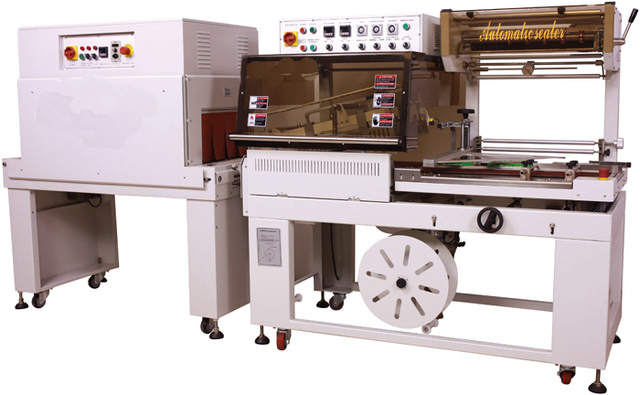 High speed side sealing&shrinking packager XT-5545+XT-4525,wrap machinery,food and industry packing equipment product line