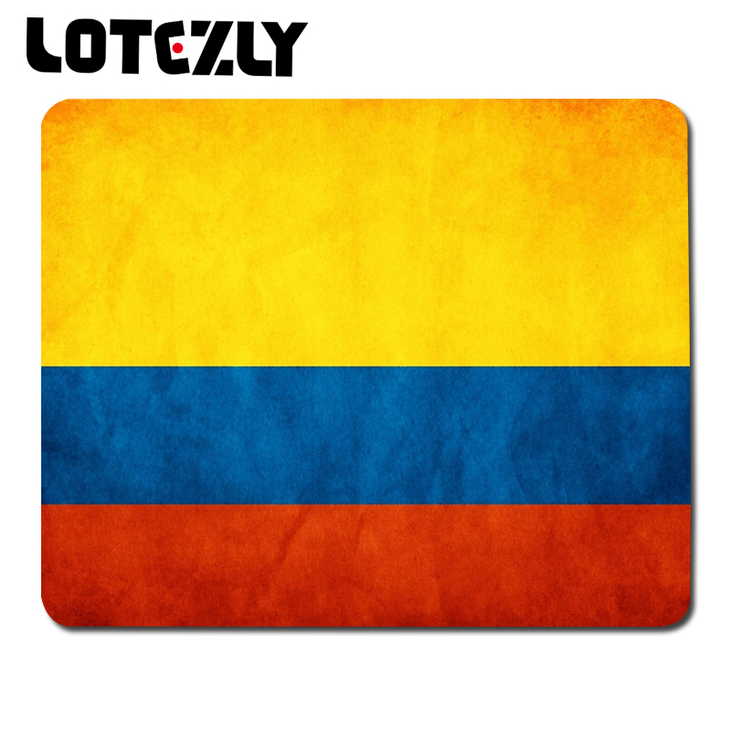 high quality hot sale Colombia flag creative notebook mouse pad / anti-slip mouse pad(China (Mainland))