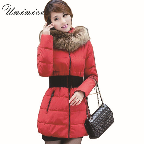 2015 large faux fur collar wadded jacket womens medium-long slim down cotton-padded jacket autumn winter womens plus size 4XLОдежда и ак�е��уары<br><br><br>Aliexpress