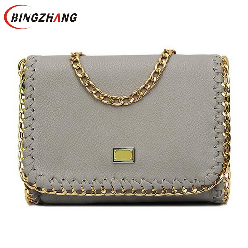 2016 Hot Sale Fashion Women's Messenger Bag Occident Style Women Shoulder Bags Top PU Leahter Chain Bag for Female L4-2543(China (Mainland))