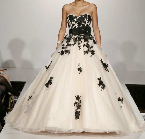 Black Wedding Dress With Train : And black wedding dresses ball gown sweetheart sleeveless sweep train