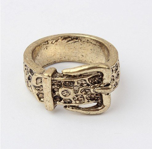 New design hot sale fashion style imitation belt ring Vintage style fashion rings