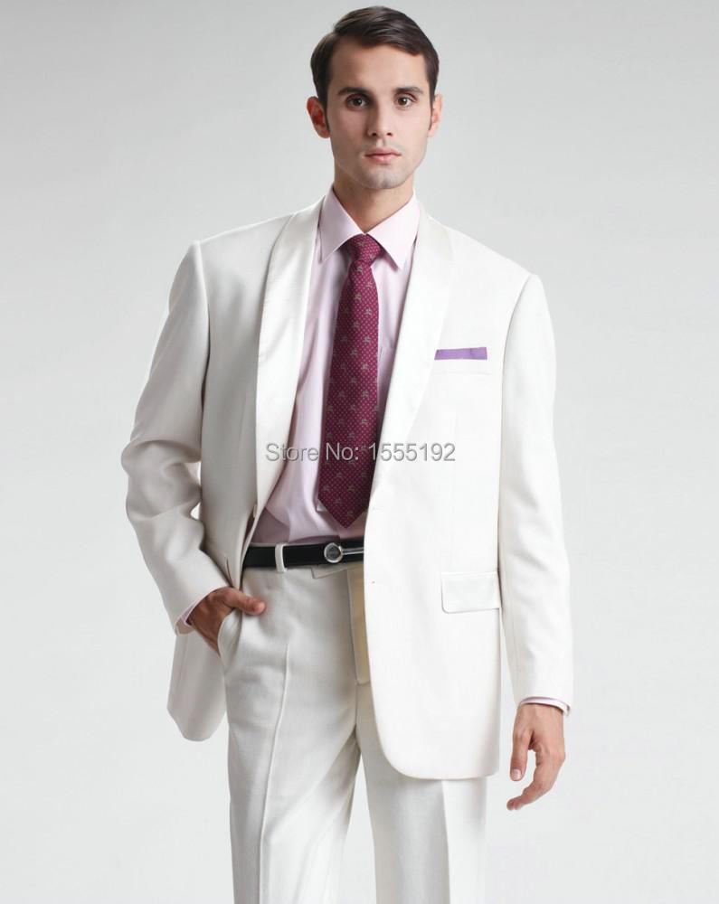 Trajes de novio de la boda de playa al por mayor de alta for Trajes de novio blanco para boda