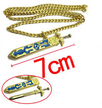 New Arrival Legend of Zelda Gold Chains Removable Master Sword Necklace Pendant Cosplay Unisex Women Men Jewelry
