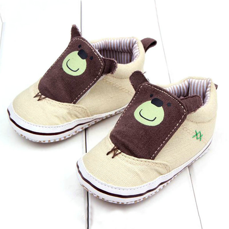 Baby Girl Boy Cotton Cloth Casual Cartoon Booties Slip-On Unisex Walking Shoes(China (Mainland))