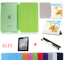 Hot sale For iPad 2 3 4 Smart Case Ultra Slim Original 1:1 Tablet Leather For Apple ipad Case Gift Screen film + capacitor pen(China (Mainland))