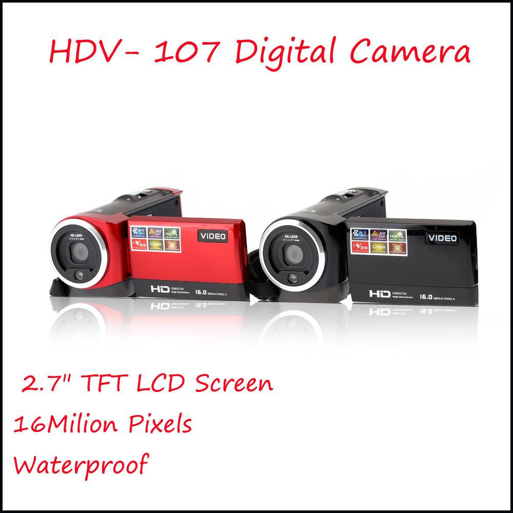 "2016 Portable Digital Video Camcorder HD 720P 16Mega Pixels CMOS Cheap Camera Mini DV DVR 2.7"" TFT LCD Rotating Screen 16x ZOOM(China (Mainland))"