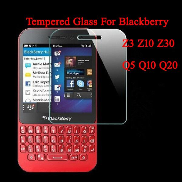 0.3mm 2.5D 9H Screen Protector Tempered Glass Protective Film For BlackBerry Q10 Q20 Q5 Z10 Z30 Z3 Mobile Phone(China (Mainland))