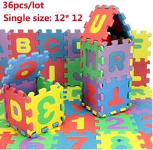 36 шт./лот экологически ребенка ковер головоломки, Tapete де Atividades Alfombra головоломки eva, ребенка играть мат головоломки пены 12 * 12 см