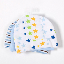 3pcs/lot Baby Boy Hat Pink Candy Blue Star Printed Baby Hats & Caps For Newborn Girls Baby Accessories Cotton Baby Cap(China (Mainland))