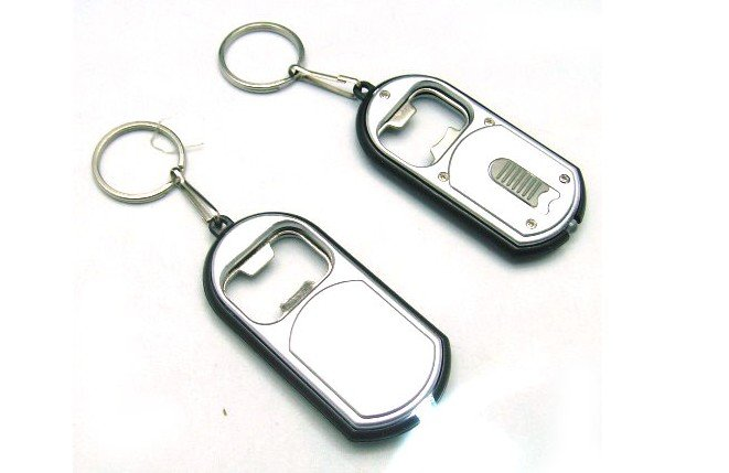 mini keychain bottle opener with led light can opener in. Black Bedroom Furniture Sets. Home Design Ideas