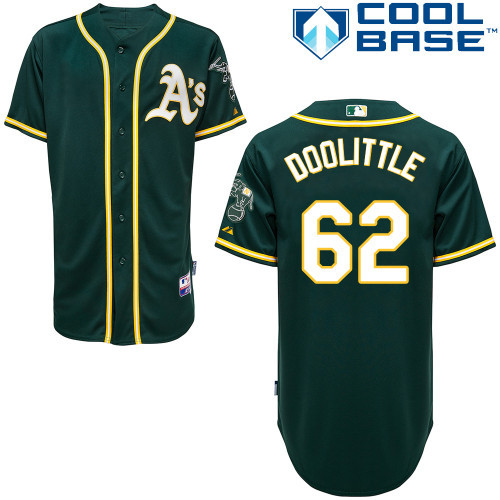 Oakland Athletics #62 Sean Doolittle Baseball Jerseys Authentic Embroidery stitched onfield Home Color Top Quality(China (Mainland))