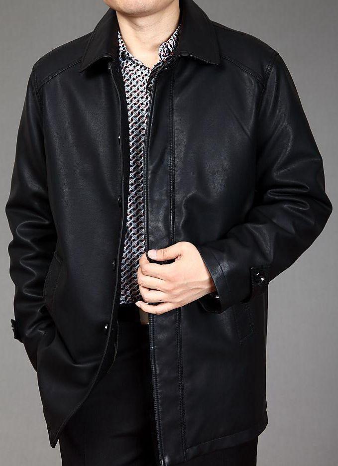 Новый 2014 мужские длинные дубленки кожаные куртки Jaquetas Couro мужская кожаная куртка из натуральной кожи куртка мужчин Зимняя куртка пальто