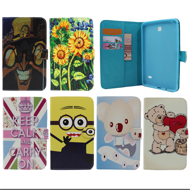 New Case cover For Cover Samsung Galaxy Tab 4 7.0 T230 T231 T235 PU Leather Silicone Tablet Kids Cases Accessories Y5A16D(China (Mainland))
