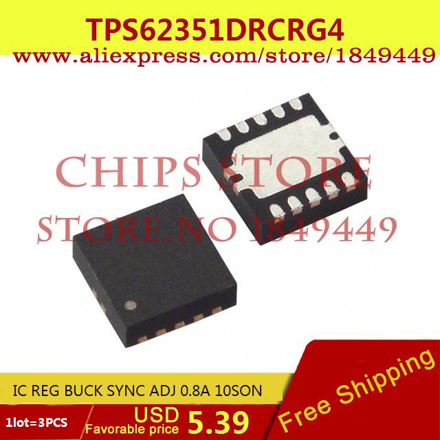 Бесплатная Доставка IC Интегральной Схемы TPS62351DRCRG4 IC REG BUCK SYNC ADJ 0.8A 10SON 62351 TPS62351 3 ШТ. freeshipping 50pcs lot lm5009mm ic reg buck adj 0 15a 8msop lm5009mm 5009 lm5009 lm5009m 5009m m5009