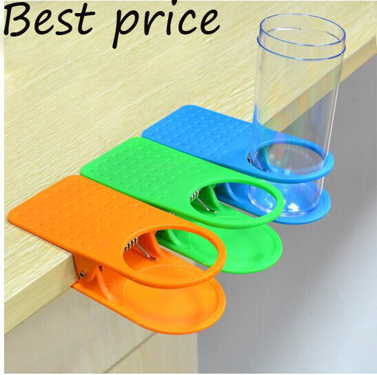 banheiro Tumbler bathroom accessories Drink Cup Coffee Glass Stand Clip Desk Table Home Office Use Desk Cup Holder Free shipping(China (Mainland))