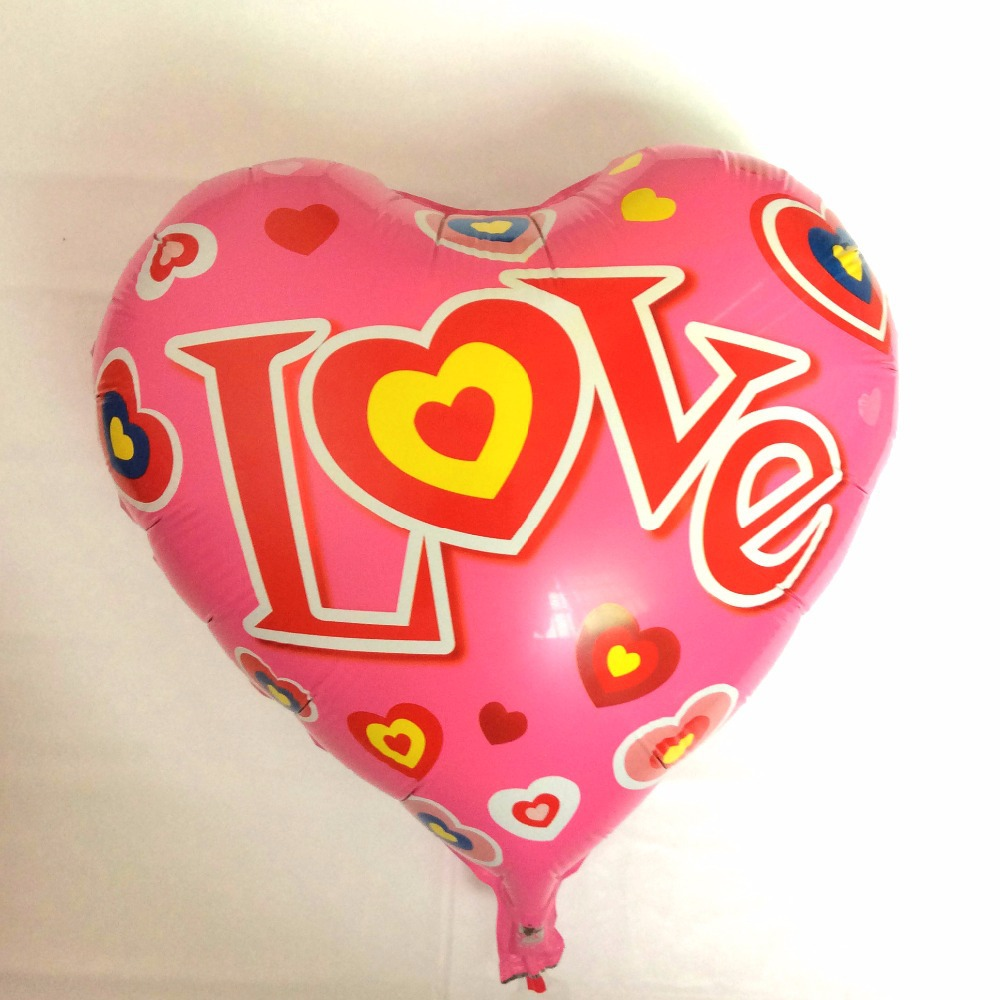 2015 50pcs/lot new love balloons foil helium ballon for valentines day baloon wedding party decoration globos 18inch heart<br><br>Aliexpress