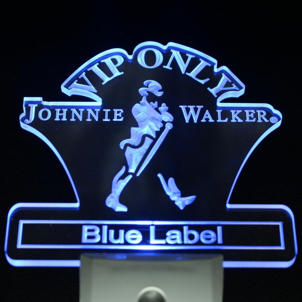 ws0019 VIP Only Johnnie Walker Blue Label Day/ Night Sensor Led Night Light Sign(China (Mainland))