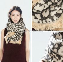 ZA 2016 New Winter Scarf Brand New Design Leopard Print Scarf Woman's Fashion Cashmere Scarf Shawl ,190X70cm(China (Mainland))